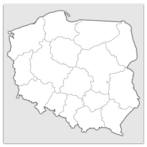 Polska Mapa Scienna Administracyjno Drogowa 1 500 000 Mapa Scienna